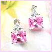 china foreign trade fashion earring - Pink Zircon fashion earring