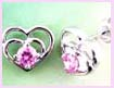 china international trade fashion earring - Heart in Heart silver fashion earring
