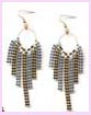trade show in china fashion earring - two tone bronzeand silver fashion earrings