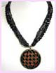 jewelry wholesale promotion - black and red multiple strand necklace available