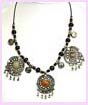 wholesale jewelry manufacturer - multiple colored beaded necklace with several different colored pendants