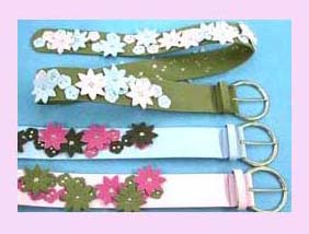 china export agent womens wholesale fashion belt - floral fashion leather belt