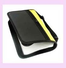 china products CD holder - black w/yellow strip decorative cd holder
