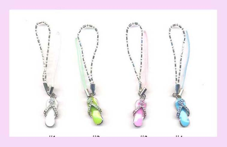 Wholesale Cell Phone Accessory - cell phone wrist strap with fashion charm