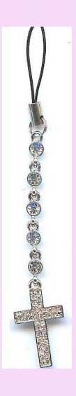 import and export from china cell phone accessory - cell phone wrist strap cross charm