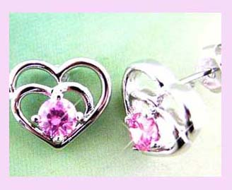 Fashion Earring - Heart in Heart fashion earring