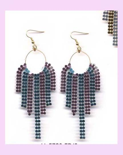 china canada trade fashion earring - trendy metallic dangle fashion earring