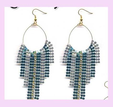 china company export wholesale fashion earring - fashion hoop metallic fashion jewelry earring