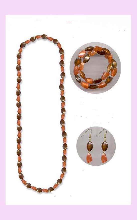 fashion jewelry wholesale from china - Fashion bead neclace and earring set fashion accessories