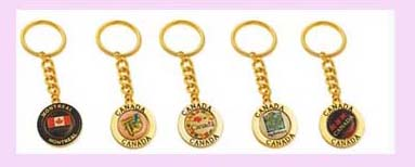 wholesaler keychain promotional gift from china exporter - assorted design gold color keychain keyring