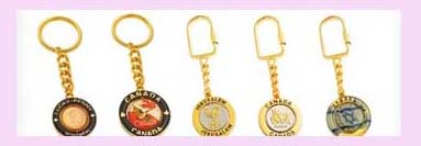 wholesale keychain promotional gift from china exporter - assorted design gold color keychain keyring