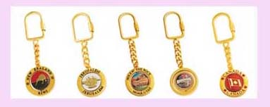 keychain promotional gift from china - various design gold colored keychain