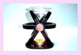 wholesale home decor supplier - black oil burner with glass oil holder available