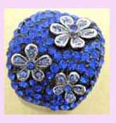wholesale jewelry distributor - blue and silver flowered ring available