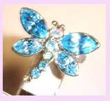 wholesale gift promotion supply - dragonfly ring embeded with blue stones available